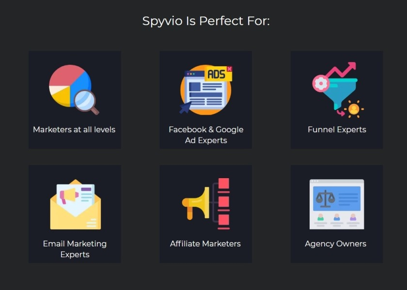 SPYVIO: Easy to use spy tool that uncovers profitable emails, ads & funnels from your competitors in three easy steps