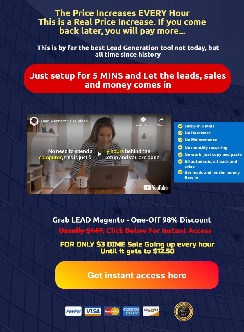 Lead Magneto: best targeted Lead Generation tool not today, but all time since history.