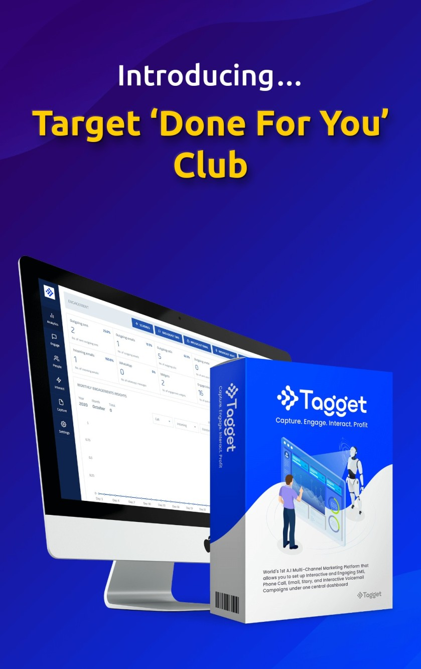 The Tagget 'Done For You' club gives you everything you need to keep your Tagget income growing month after month without any additional work required on your part.