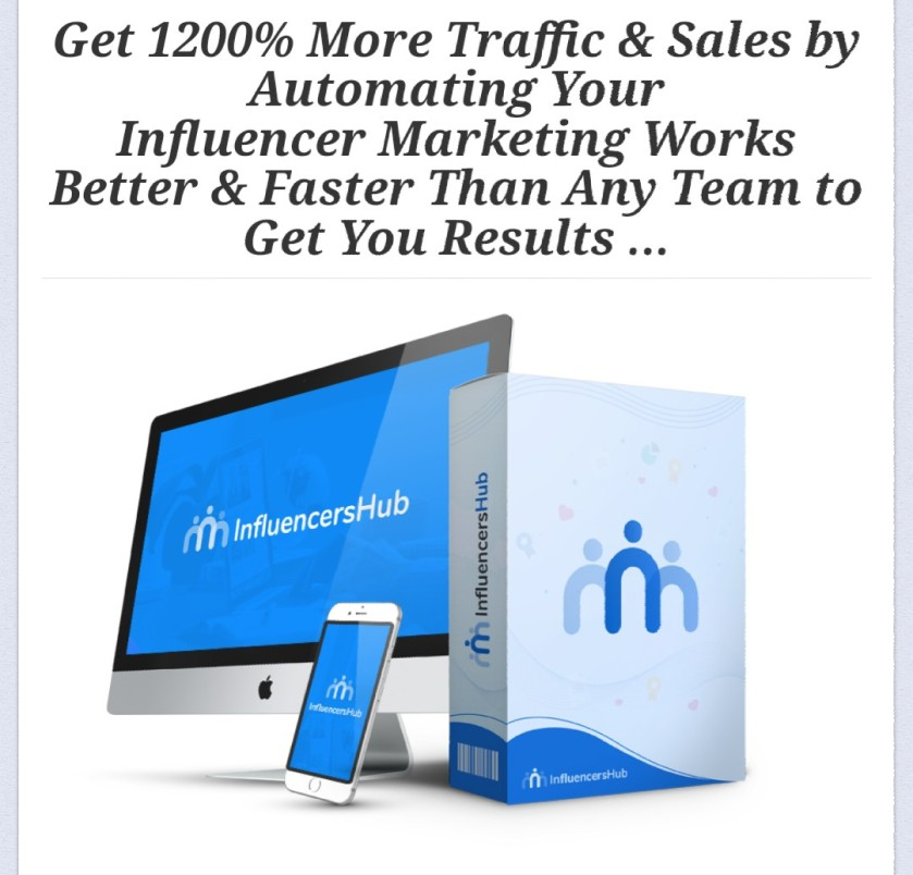 FREE VIDEO Showing How To Get Unlimited Targeted Traffic from YouTubeTM, InstagramTM, TwitterTM, and High-Traffic Popular Blogs In Any Niche from Top Influencers using influencerhub
